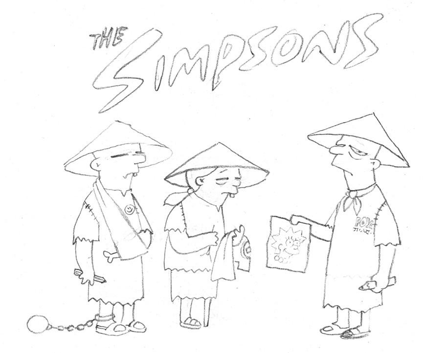 Banksy x Story Board « The Simpsons »