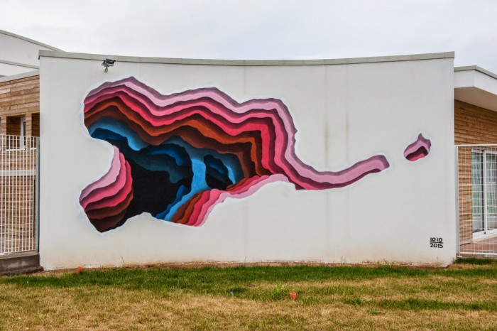 Wall in Italy by 1010, one of the artists that will participate in the Urban Forms Festival 2018.